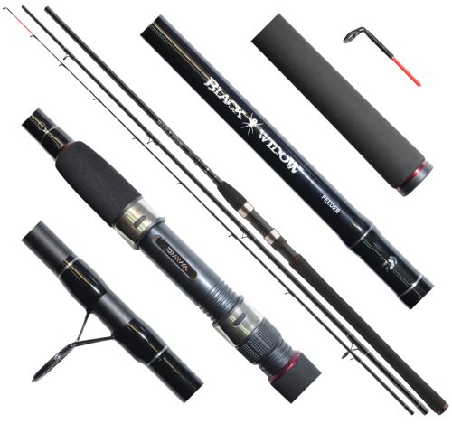 Daiwa® Prut Daiwa Black Widow Feeder 390 cm - 150 g