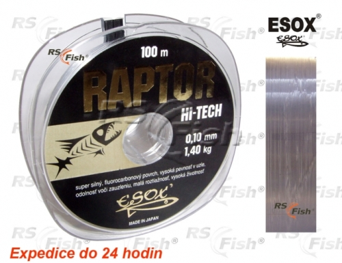 Esox® Vlasec Esox Raptor 100 m 0,38 mm