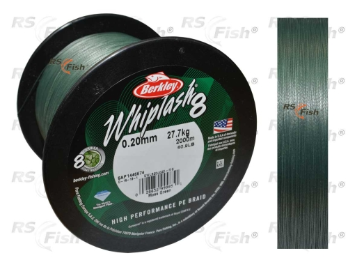 Berkley® Šňůra Berkley Whiplash 8 Moss Green 0,10 mm
