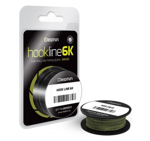Delphin® Šňůra návazcová FIN® Hook Line 6K 25 lbs - 11,40 kg