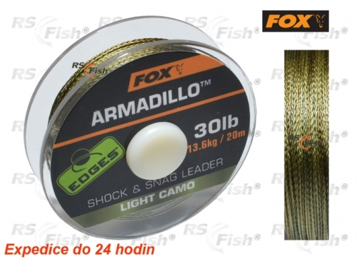 FOX® Šňůra návazcová FOX Armadillo Light Camo 20,40 kg / 45 lb - CAC456