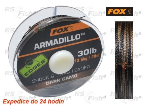 Fox® Šňůra návazcová FOX Armadillo Dark Camo 20,40 kg / 45 lb - CAC458