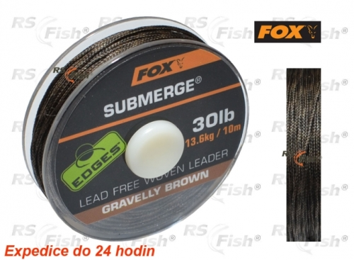 FOX® Šňůra FOX Submerge Grawelly Brown 20,40 kg / 45 lb - CAC466