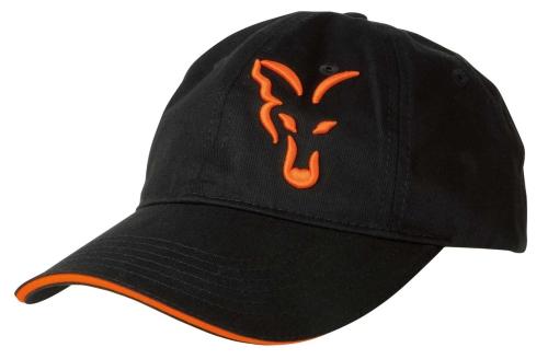 FOX® Kšiltovka FOX Black   Orange Baseball Cap 4d3a979e61
