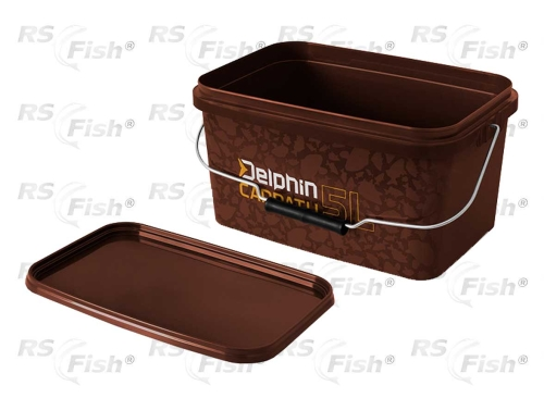 Traper® Vědro Delphin Carpath - hranaté s víkem 5 litrů