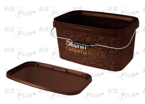 Traper® Vědro Delphin Carpath - hranaté s víkem 10 litrů