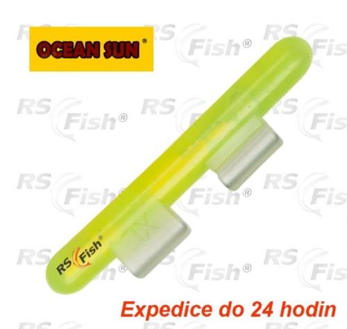 Ocean Sun® Chemické světlo s klipem - fluožluté L - 2,7 - 3,2 mm