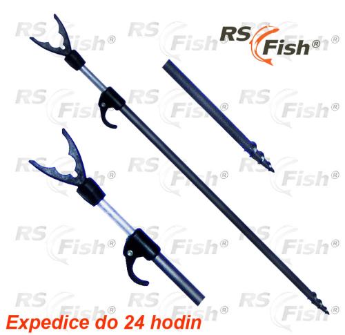 RS Fish® Vidlička teleskopická univerzální - zavrtávací dlouhá - 110 - 200 cm
