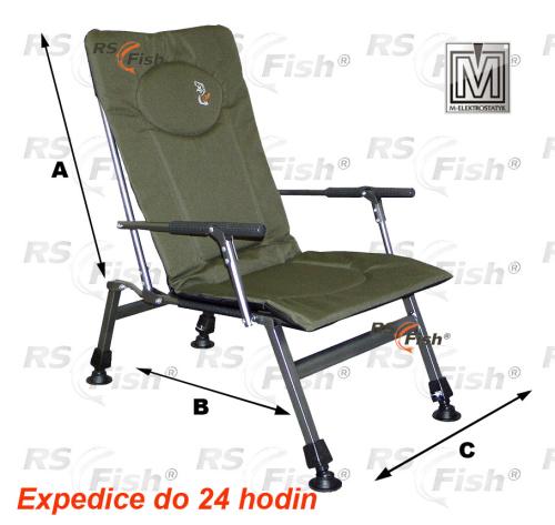 M Elektrostatyk® Křeslo rybářské F8R - barva zelená