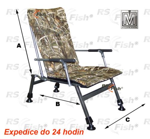 M Elektrostatyk® Křeslo rybářské F8R - barva maskáčová