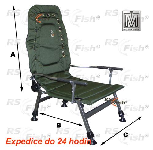M Elektrostatyk® Křeslo rybářské FK2 - barva zelená