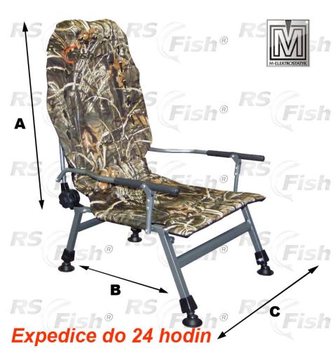 M Elektrostatyk® Křeslo rybářské FK2 - barva maskáčová