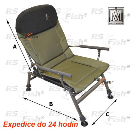 M Elektrostatyk® Křeslo rybářské FK5 - barva zelená