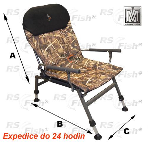 M Elektrostatyk® Křeslo rybářské FK5 - barva maskáčová