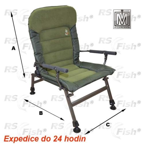 M Elektrostatyk® Křeslo rybářské FK6 - barva zelená