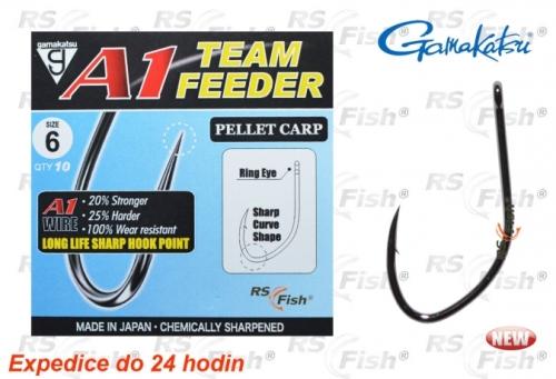 Gamakatsu® Háček Gamakatsu A1 Team Feeder Pellet Carp 6
