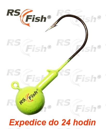 RS Fish® Hlava jigová - fluo žlutá 1,0 g