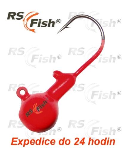 RS Fish® Hlava jigová - fluo červená 7,0 g
