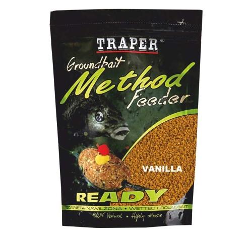 Traper® Vlhčená krmítková a vnadící směs Traper Method Feeder Vanilka - 750 g
