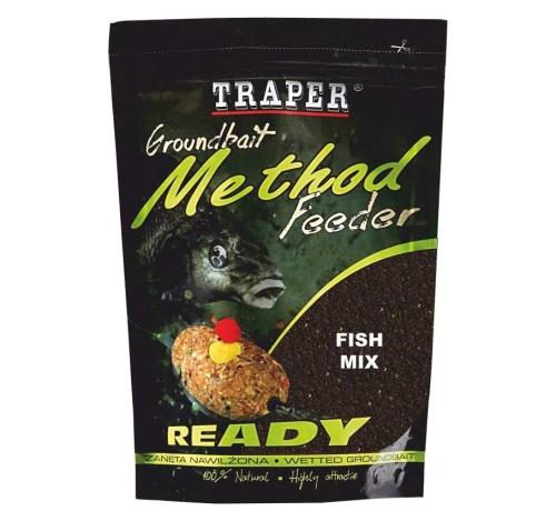 Traper® Vlhčená krmítková a vnadící směs Traper Method Feeder Ryba - 750 g