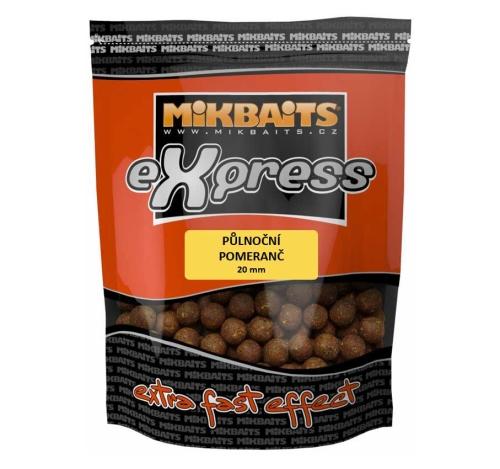 Mikbaits® Boilies Mikbaits eXpress Půlnoční pomeranč - 1 kg