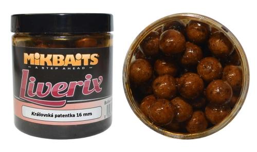 Mikbaits® Boilies v dipu Mikbaits Liverix - Královská patentka - 16 mm