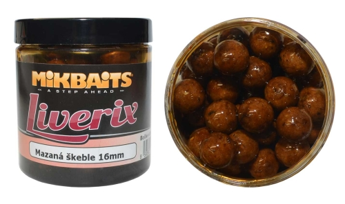 Mikbaits® Boilies v dipu Mikbaits Liverix - Mazaná Škeble - 16 mm