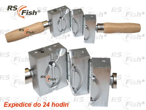 RS Fish® Forma na odlévání zátěží - krmítko s trubičkou Ø 4 mm 40,0 g